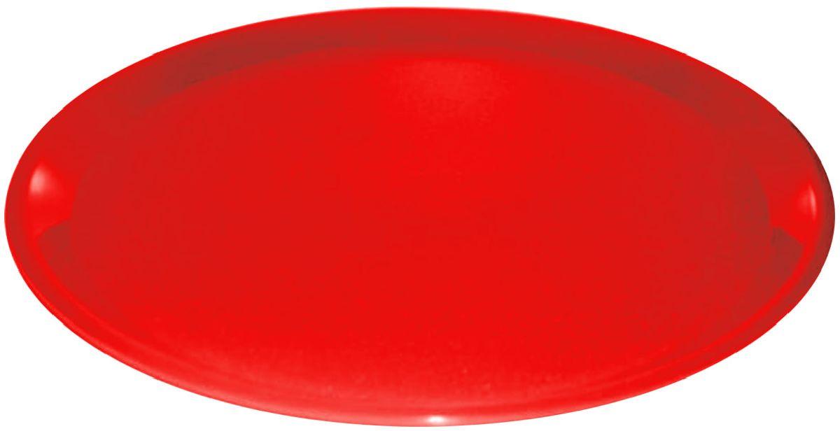 Поднос Plastic Centre, цвет: красный, диаметр 32 см115510Поднос универсальный предназначен для переноски посуды. Прочный материал обеспечивает долговечность изделия. Рельефная поверхность предотвращает скольжение посуды на подносе.Диаметр подноса: 32 см.Вес подноса: 150 г.