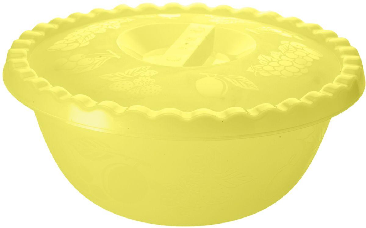 Миска Plastic Centre Фазенда, с крышкой, цвет: желтый, 3 л115510Для хранения, приготовления и переноски продуктов или холодных блюд. Корпус и крышка украшены свежим и летним декором.