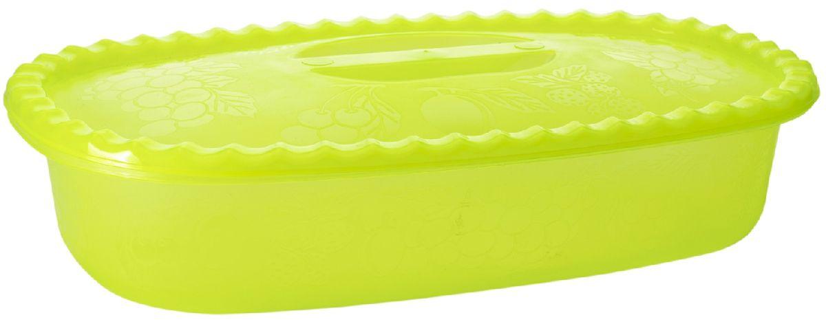 Судок Plastic Centre Фазенда, с крышкой, цвет: светло-зеленый, 2,7 л115610Наш многофункциональный судок с крышкой прекрасно подходит для подачи различных блюд. Классический дизайн судка украсит даже праздничный стол.