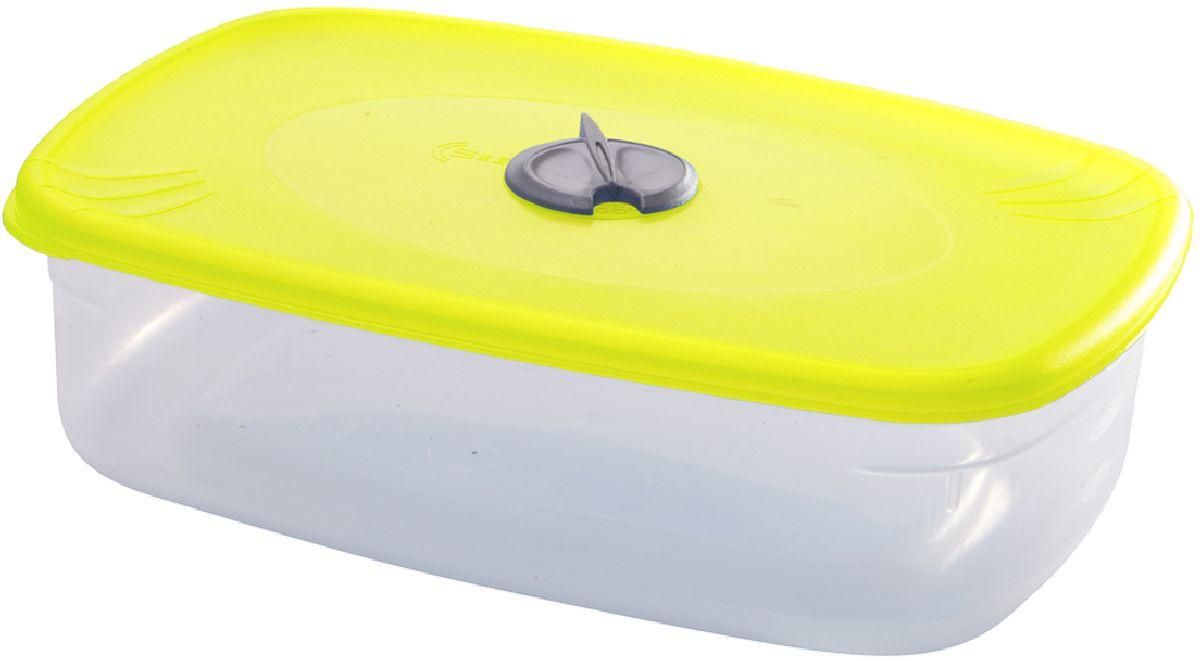Емкость для СВЧ Plastic Centre, с паровыпускным клапаном, цвет: желтый, прозрачный, 1,6 лПЦ2329ЛМНМногофункциональная емкость для хранения различных продуктов, разогрева пищи, замораживания ягод и овощей в морозильной камере и т.п. При хранении продуктов емкости можно ставить одну на другую, сохраняя полезную площадь холодильника или морозильной камеры.Размер контейнера: 22,5 x 15,5 x 7 см.Объем контейнера: 1,6 л.