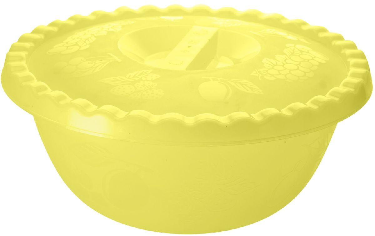 Миска Plastic Centre Фазенда, с крышкой, цвет: желтый, 6 лПЦ2350ЖТПРМиска с крышкой прекрасно подходит как для приготовления, так и для подачи различных блюд на стол. Классический дизайн порадует хозяйку. Крышка сохранит свежесть приготовленных блюд.Объем миски: 6 л.Диаметр миски: 32,5 см.Высота миски: 14,5 см.