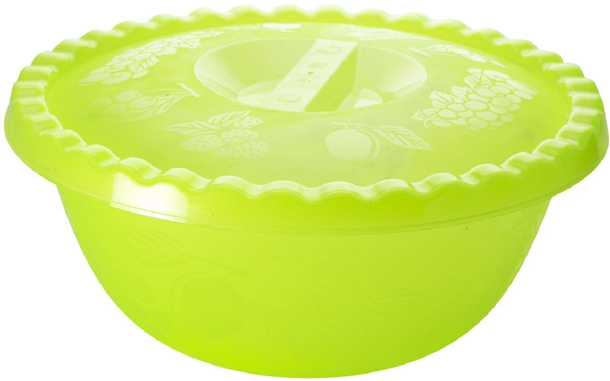 Миска Plastic Centre Фазенда, с крышкой, цвет: светло-зеленый, 6 л54 009312Миска с крышкой прекрасно подходит как для приготовления, так и для подачи различных блюд на стол. Классический дизайн порадует хозяйку. Крышка сохранит свежесть приготовленных блюд.Объем миски: 6 л.Диаметр миски: 32,5 см.Высота миски: 14,5 см.