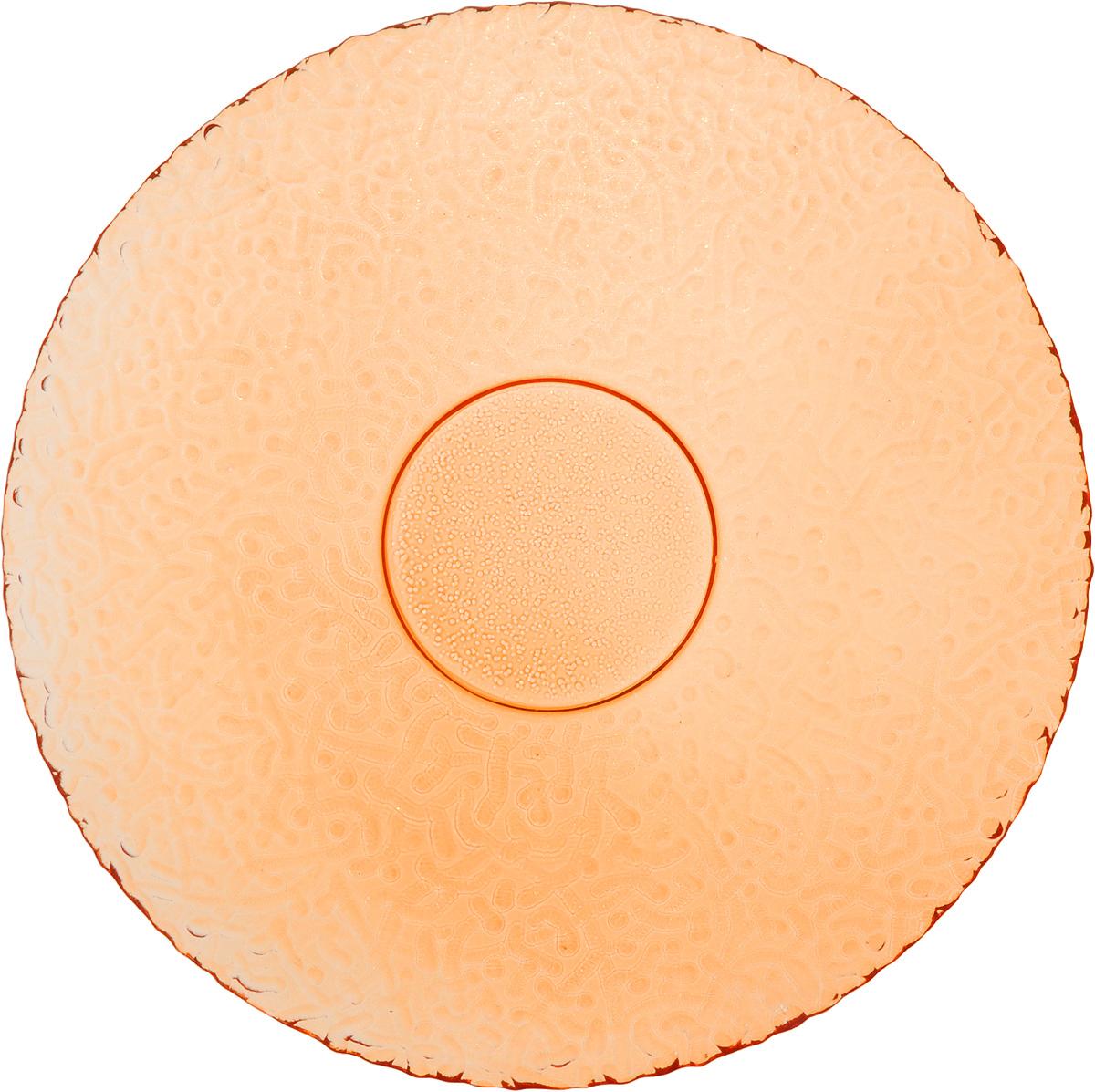 Тарелка NiNaGlass Ажур, цвет: оранжевый, диаметр 21 см115510Тарелка NiNaGlass Ажур выполнена из высококачественного стекла и оформлена оригинальным рельефом. Она прекрасно впишется в интерьер вашей кухни и станет достойным дополнением к кухонному инвентарю. Тарелка NiNaGlass Ажур подчеркнет прекрасный вкус хозяйки и станет отличным подарком. Диаметр тарелки: 21 см. Высота: 2,5 см.