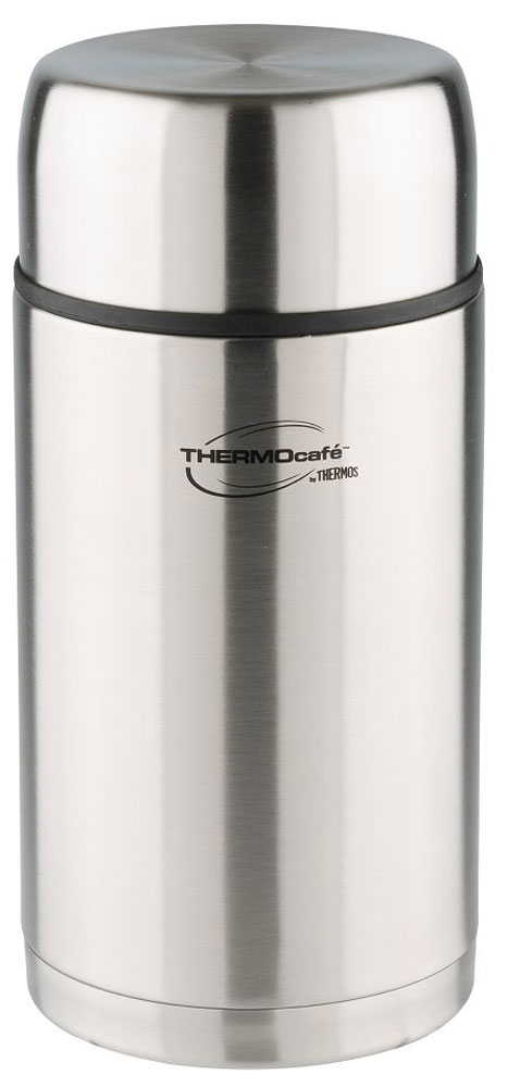 Термос Thermocafe By Thermos, цвет: стальной, 1,2 л. TC-120AS009Термос Thermocafe By Thermos для напитков и еды с широким горлом очень удобен в путешествиях.На пробке предусмотрен клапан-кнопка для более легкого открытия крышки. Если подпустить воздух под закручивающуюся крышку, то термос легко откроется.Объем: 1,2 л.