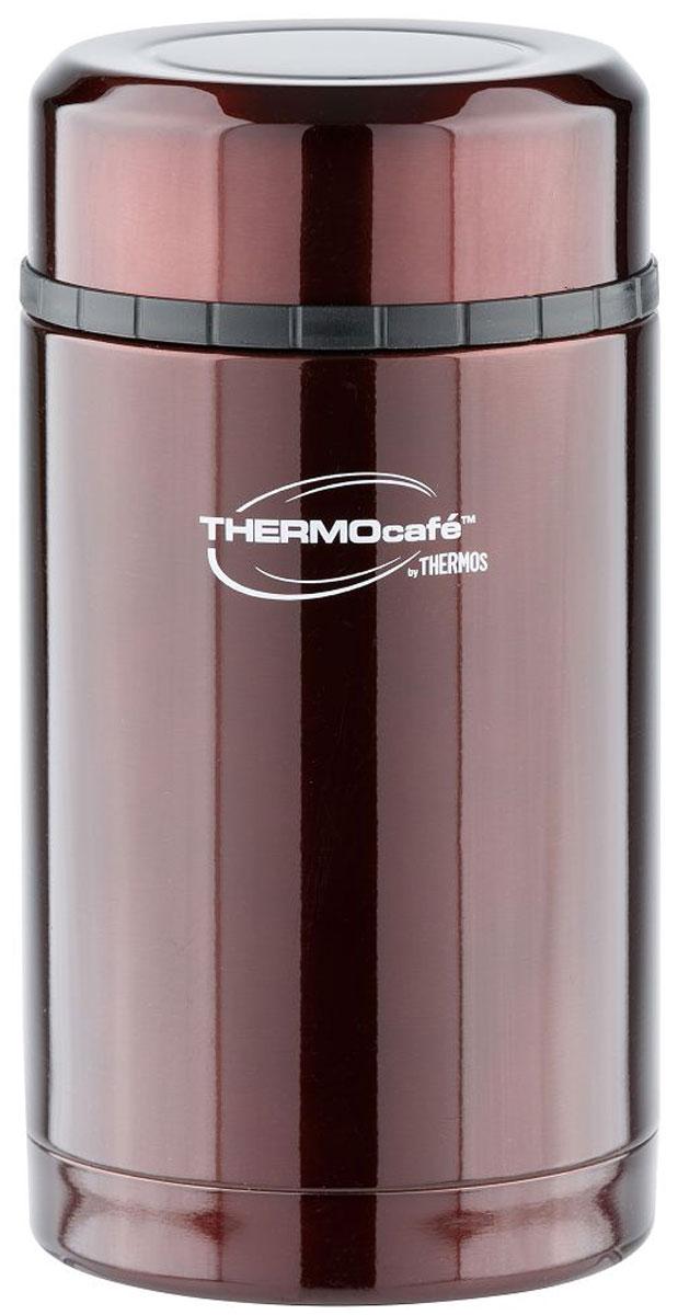 Термос Thermocafe By Thermos, цвет: кофейный, 0,42 л. VC-420115510Термос Thermocafe By Thermos лучший вариант для автопутешествий, пеших передвижений, походов на пикник, на рыбалку или охоту. Термосвыполнен из нержавеющей стали. Он имеет широкое горло, полноразмерную крышку-чашку, которая позволит использовать термос для первых и вторых блюд.Термос очень легкий и компактный, удобен в транспортировке и хранении.Объем: 420 мл.