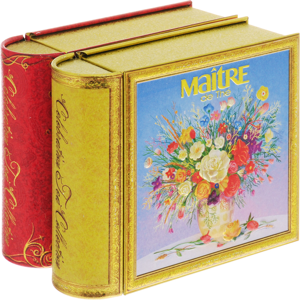 Maitre С праздником набор черного листового чая, 100 г4607099307810Продолжение подарочной коллекции серии книг-малышек «Celebration tea collection». Весна – это время, когда природа просыпается и дарит нам лучшее признание в любви: цветы. Две книжки оформлены в единой спайке.