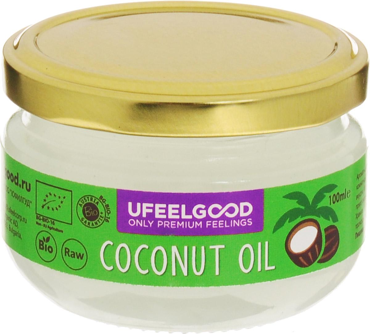 UFEELGOOD Coconut Oil кокосовое масло органическое, 100 мл0120710Кокосовое масло идеально подходит для приготовления пищи, так как его молекулы достаточно стабильны, чтобы выдерживать нагрев, не окисляясь.Также масло можно использовать для наружного применения: массаж с ароматерапией, различные маски насыщают, увлажняют и охлаждают кожу, оказывая противовоспалительное действие. Применение кокосового масла уменьшает симптомы кожных заболеваний, поддерживает естественный биохимический баланс кожи, помогает устранить сухость и шелушение, препятствует образованию морщин, дряблости кожи и пигментных пятен.
