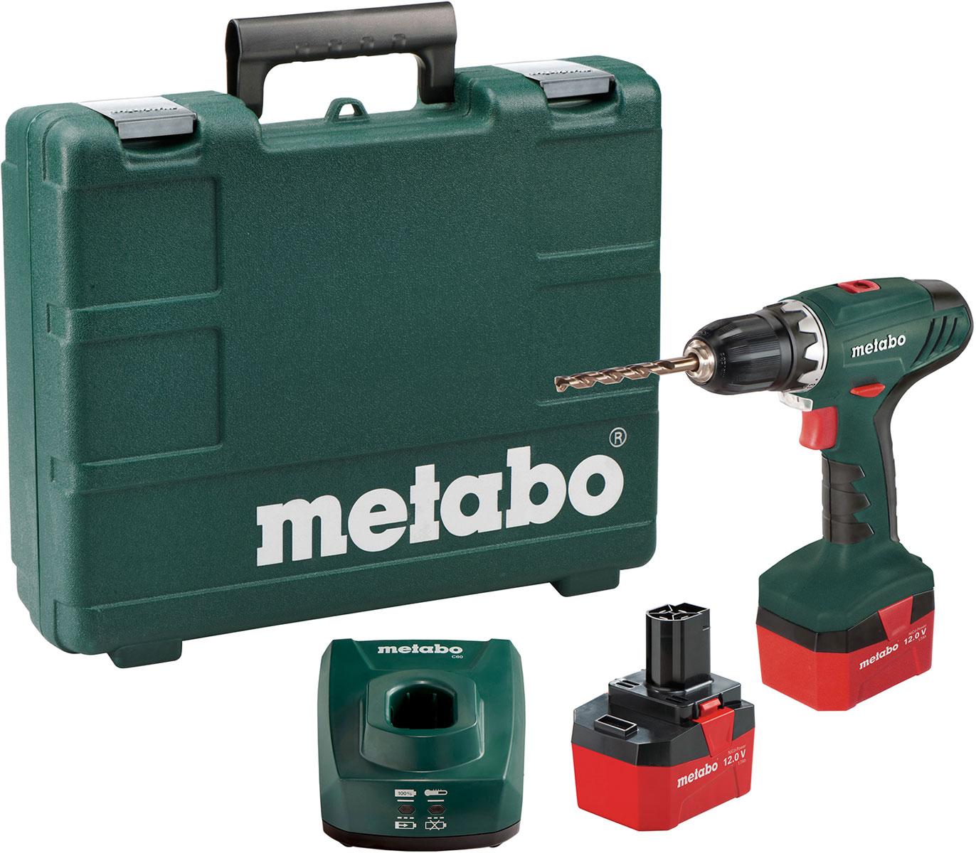 Аккумуляторный винтоверт Metabo BS 12 NiCdWT-CD37Изменяемое число оборотовРеверс и быстрый останов для универсального применения с деревом и металломВстроенная подсветка для освещения рабочего местаНапряжение аккумуляторного блока 12 VЕмкость аккумуляторного блока 1.7 Ah