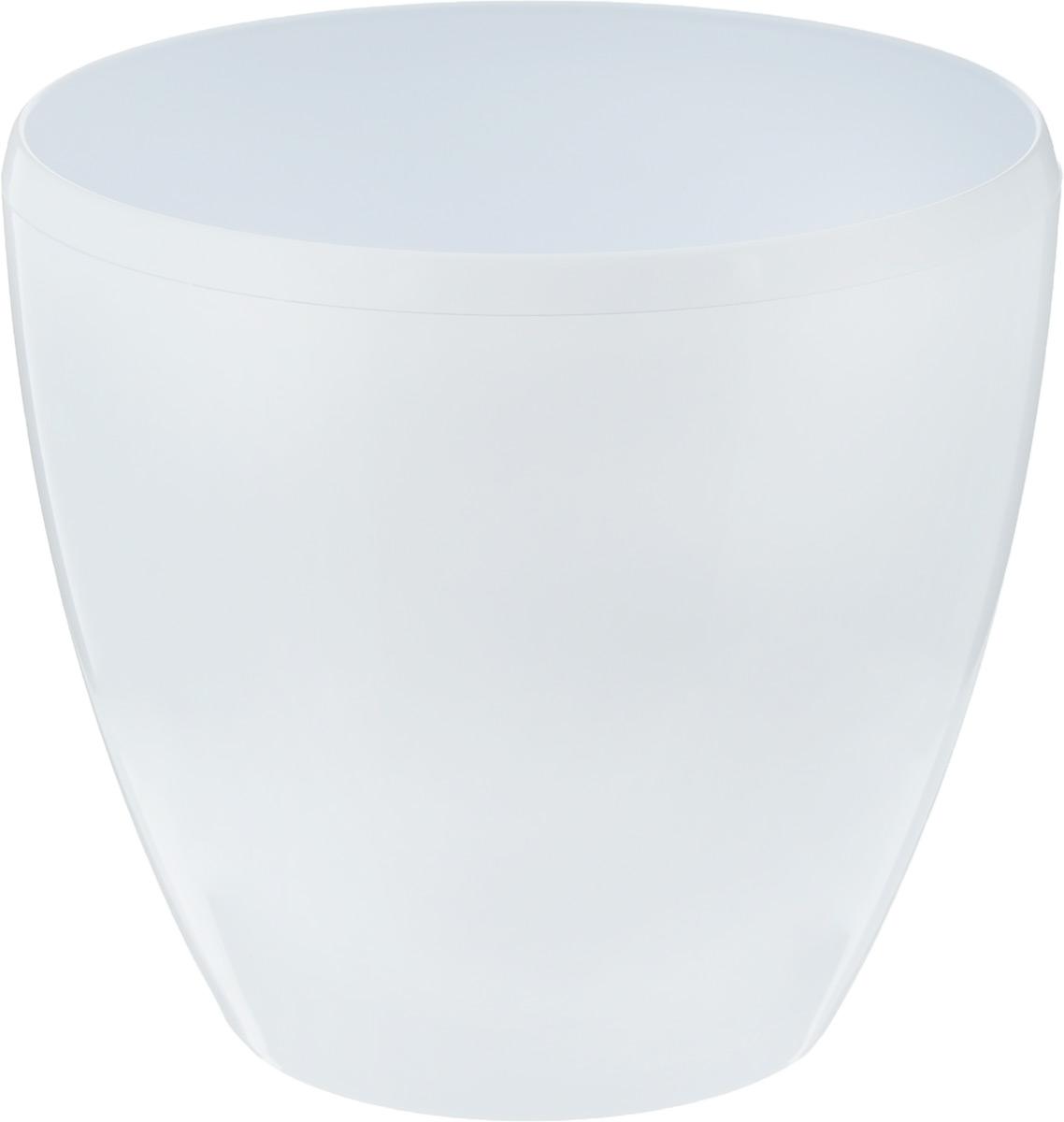 Горшок цветочный Santino Deco Twin, с системой автополива, цвет: белый, 4 л