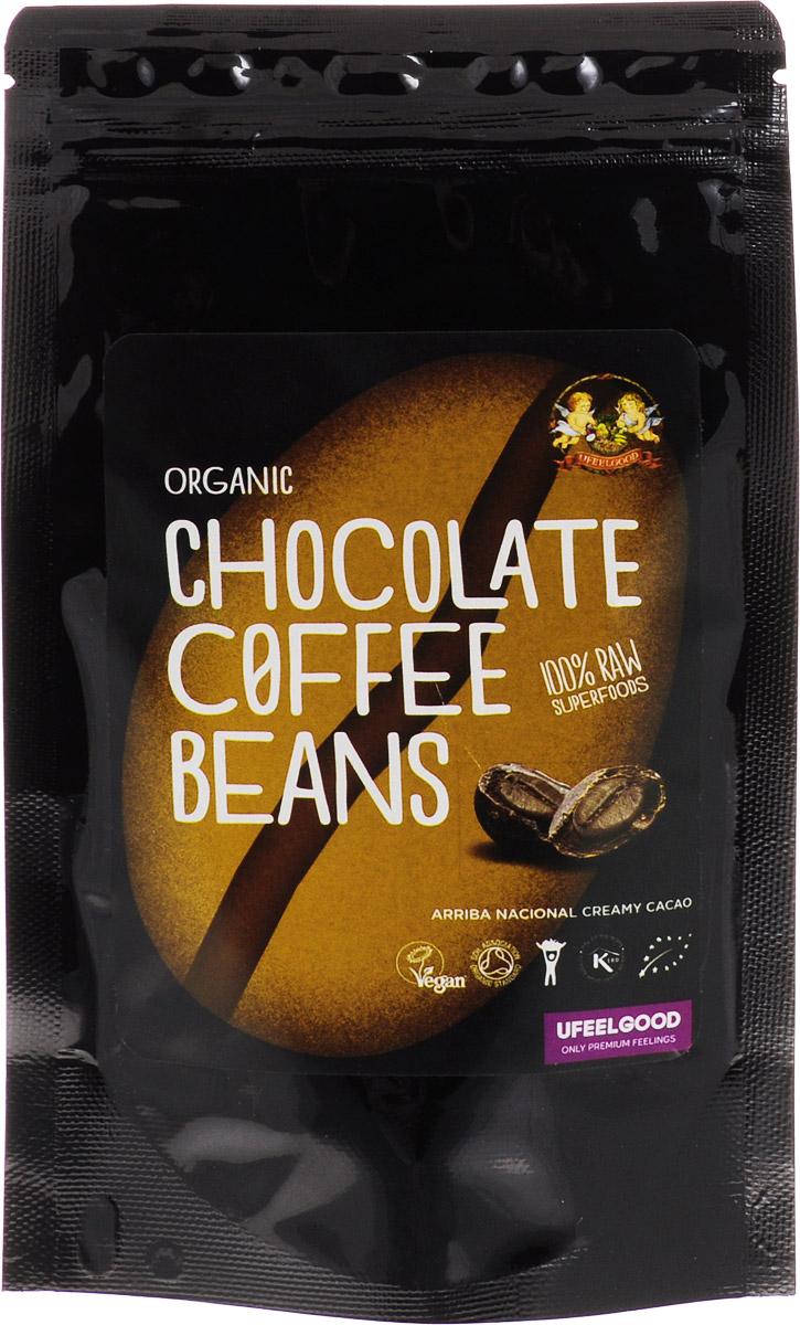 UFEELGOOD Organic Chocolate Coffee Beans зерна кофе в сыром шоколаде, 50 г