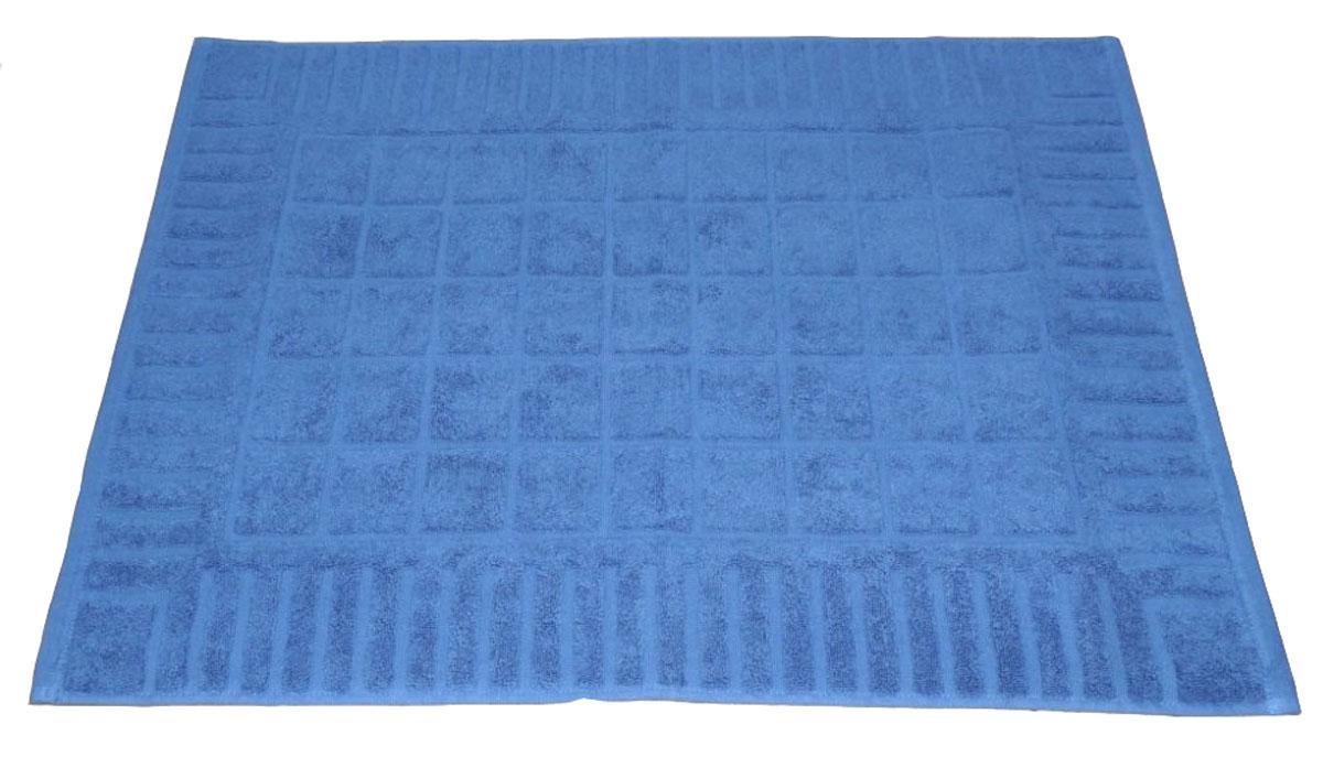 Коврик для ванной Toalla, цвет: синий, 50 x 70 см74-0120Машинная стирка при 40 градусах. Перед использованием рекомендуется постирать.