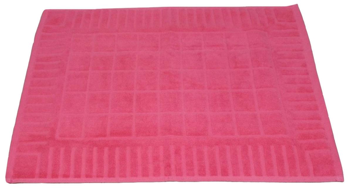 Коврик для ванной Toalla, цвет: ягодный, 50 x 70 см391602Машинная стирка при 40 градусах. Перед использованием рекомендуется постирать.