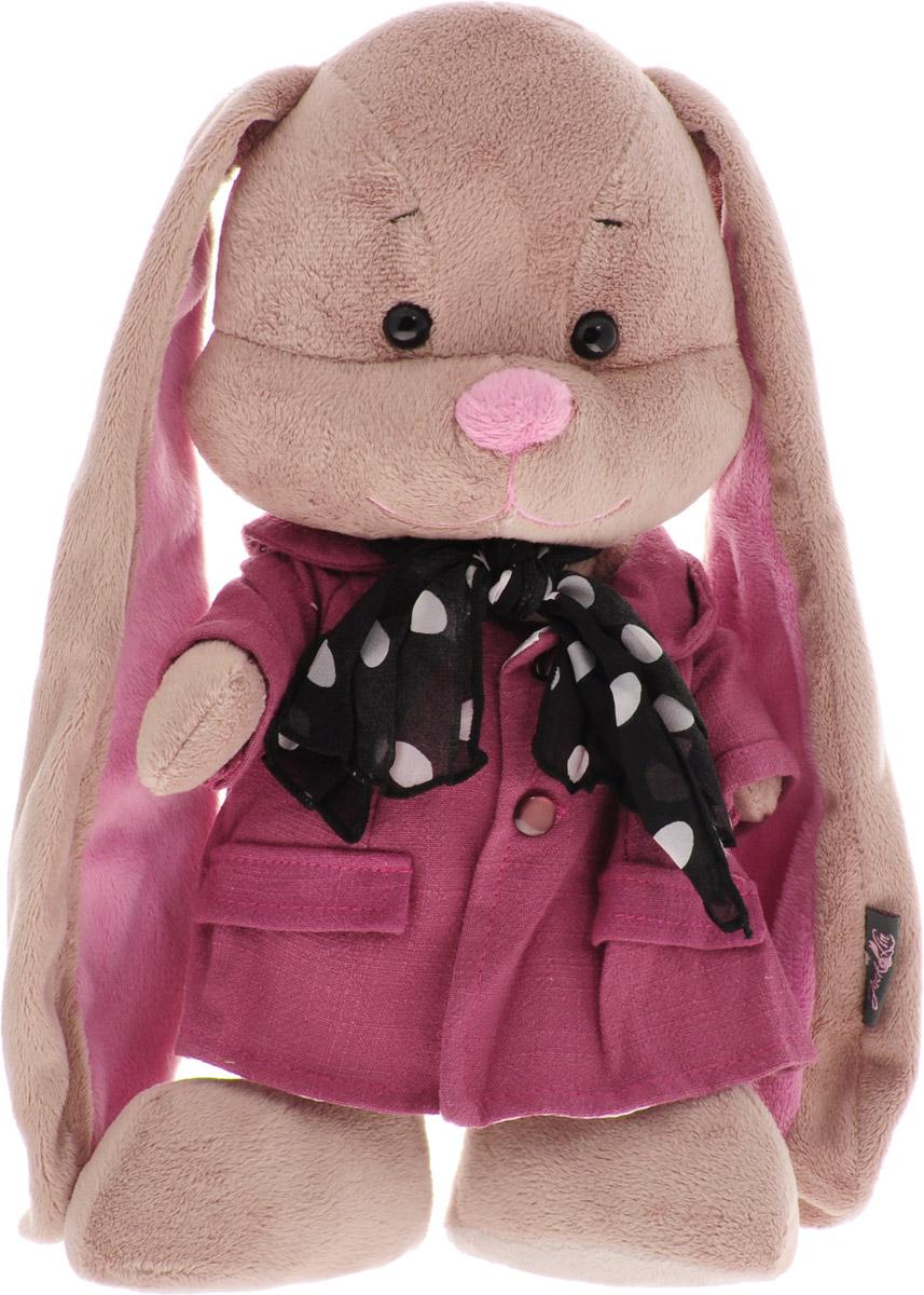 Jack & Lin Мягкая игрушка Зайка Лин в розовом пальто со стильным шарфом 25 см игрушка jack and lin зайка лин черничный пуддинг jl 021 25