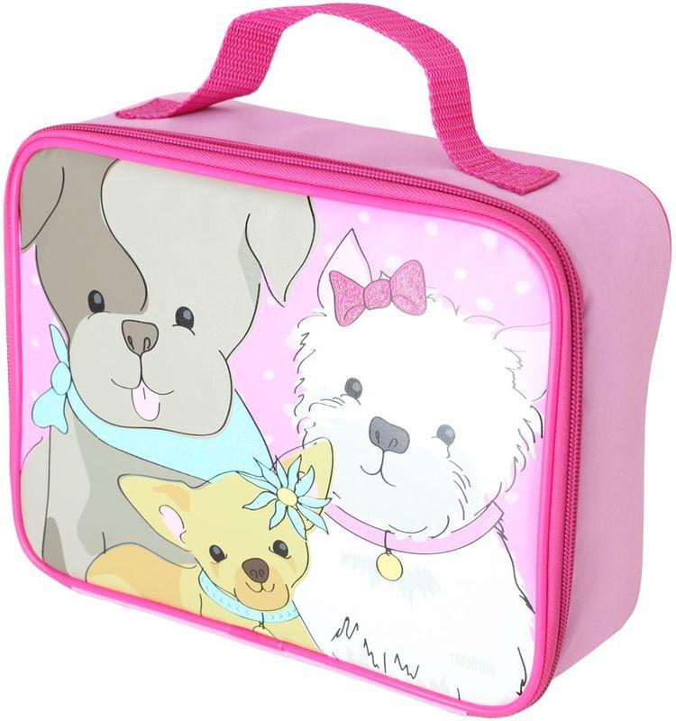 Термосумка детская Thermos Puppy Days Soft Kit , цвет: розовый, 6 л475527Изотермическая сумка для перевозки и хранения комплексного обеда Puppy Days Soft Kit декорирована ярким принтом с забавными животными.При изготовлении мягких сумок-термосов используется внутренний слой из водонепроницаемого материала Peva, он гигиеничен, герметичен, легко очищается.Объем: 6 л.