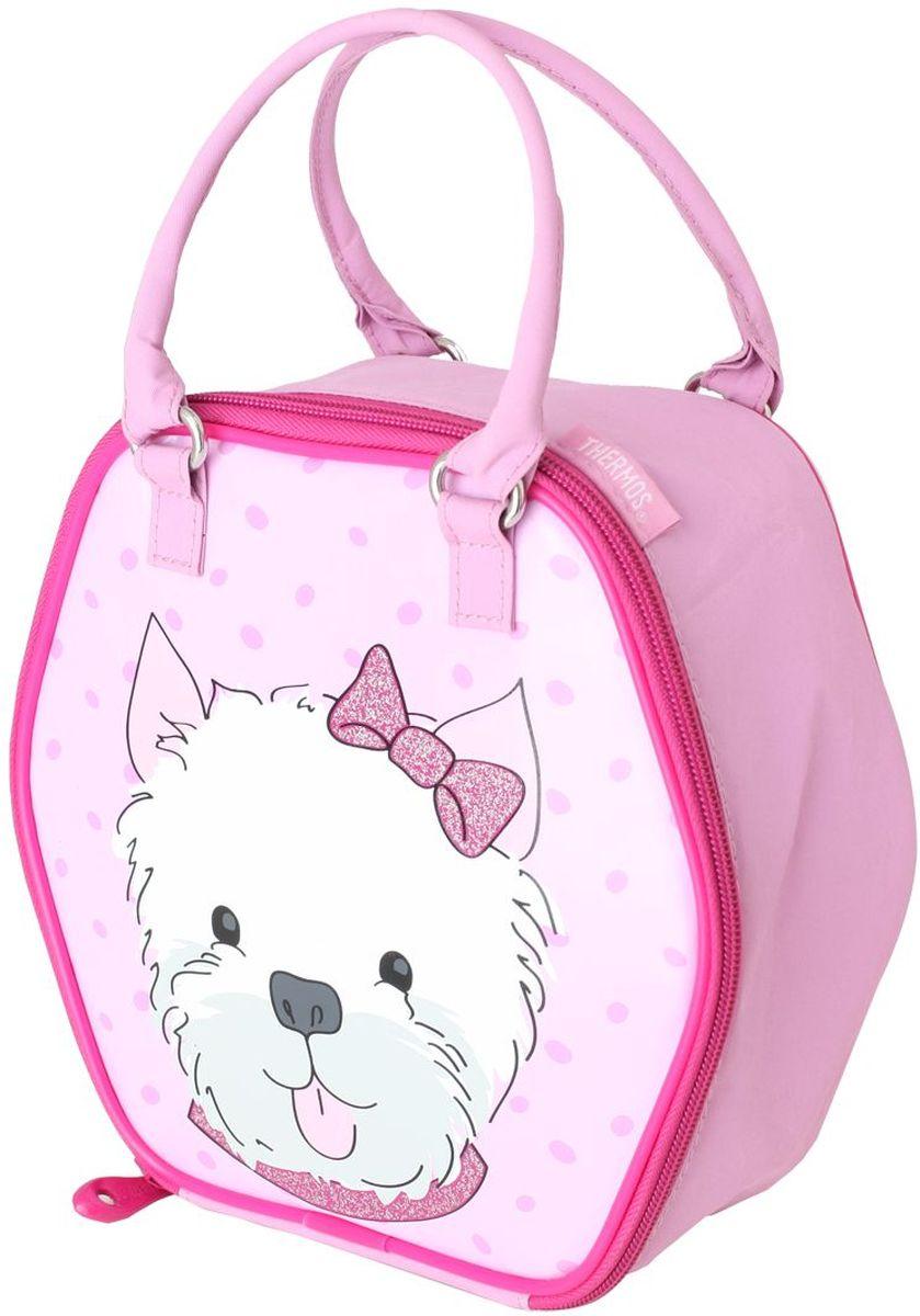 Термосумка детская Thermos Puppy Days Novelty, цвет: розовый, 5 лCDF-16Изотермическая сумка для перевозки и хранения комплексного обеда Puppy Days Novelty декорирована ярким принтом с забавными животными.При изготовлении мягких сумок-термосов используется внутренний слой из водонепроницаемого материала Peva, он гигиеничен, герметичен, легко очищается.Объем: 5 л.