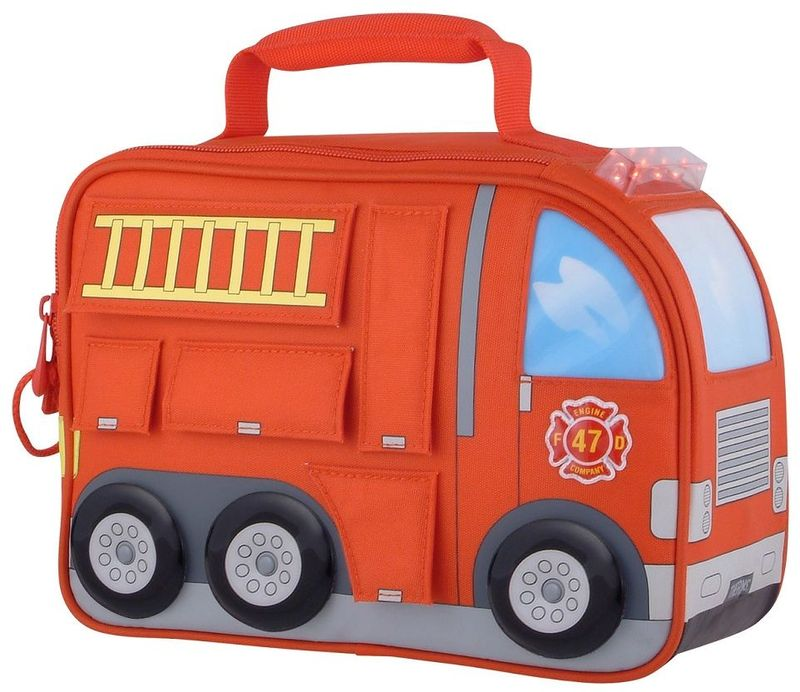 Термосумка детская Thermos Firetruck Novelty Kit, цвет: красный, 5 л889218Детская термосумка Firetruck Novelty Kit в виде грузовика выполнена из прочного износоустойчивого тканого ПВХ-материала. Она отлично подойдет для перевозки и хранения обеда вашего ребенка.Термостатирующие качества обеспечивает термоизолирующая прокладка из пенополиуретана. Для удобства переноскиимеется ручка.Объем: 5 л.