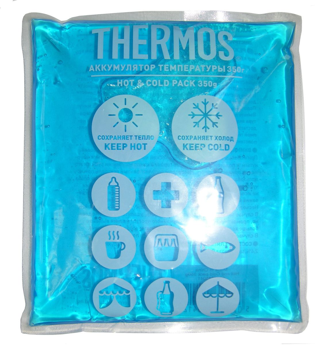 Аккумулятор температуры Thermos Gel Pack, цвет: синий, 350 г410412Аккумулятор температуры Thermos очень универсальный в применении. Он используется для поддержания как низкой, так и высокой температуры. Замораживается, разогревается и всегда остается мягким.Вес: 350 гр.