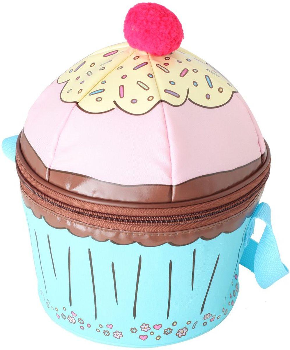Термосумка детская Thermos Cupcakes Novelty, цвет: голубой, розовый, 5 л10498Детская термосумка Cupcakes Novelty в виде пирожного выполнена из прочного износоустойчивого тканого ПВХ-материала. Она отлично подойдет для перевозки и хранения обеда вашего ребенка.Термостатирующие качества обеспечивает термоизолирующая прокладка из пенополиуретана. Для удобства переноскиимеется ручка.Объем: 5 л.