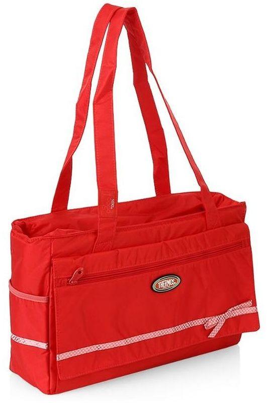 Термосумка Thermos Foogo Large Diaper. Fashion, цвет: красный, 10 л211620Большая спортивная сумка-термос для мамы Foogo Large Diaper. Fashion удобна в поездках.Сумка оснащена большим количеством карманов и отделений. Дно сумки на молнии, служит дополнительным отделением, которое укомплектовано многоразовой пеленкой. Снаружи сумки, по бокам есть два отсека.Объем: 10 л.