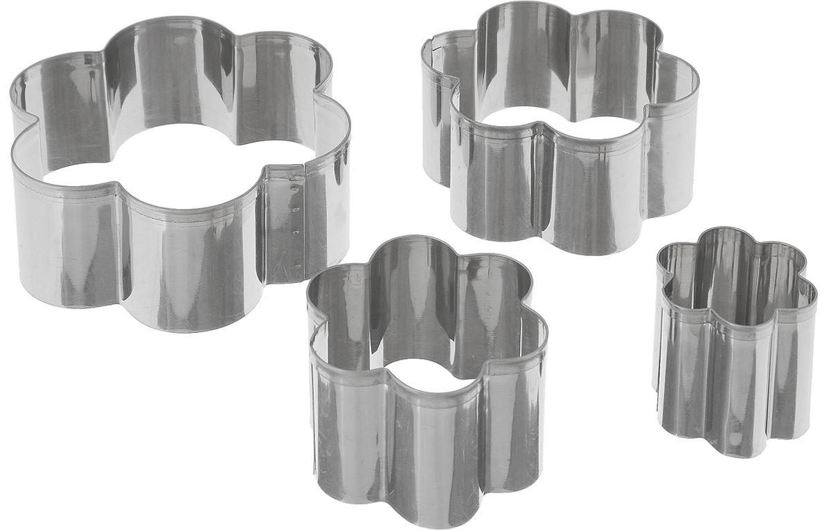 Набор форм для выпечки Mayer & Boch, 4 штBK-3969Набор форм для выпечки Mayer & Boch состоит из 4 форм в виде цветка. Формочки выполнены из нержавеющей стали. Они помогут вам творить на кухне, создавая оригинальную выпечку. Вы также можете использовать их как трафареты для рисования, лепки из пластилина и полимерной глины. Формочки не требуют сложного ухода, без проблем отмываются в теплой мыльной воде, их можно мыть в посудомоечной машине. Диаметр форм: 4 см, 6 см, 8 см, 10 см. Высота форм: 4 см.