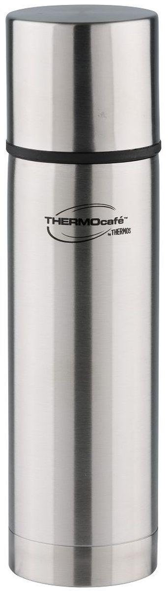 Термос Thermocafe By Thermos, цвет: стальной, 0,36 л. MF-36271716Классический термос MF-36 очень практичен и удобен в ежедневном использовании.Онснабжен надежной пробкой кнопочного типа. Теплоизолированная крышка- чашка позволит насладиться любимым напитком.Объем: 360 мл.