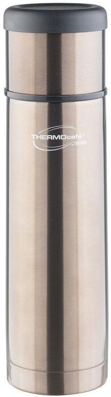 Термос Thermocafe By Thermos, цвет: серый, 0,5 л. EveryNight-50271877EveryNight-50 идеальный термос, чтобы взять с собой горячий кофе, ледяной чай или другой любимый напиток Крышка термоса служит кружкой для питья . Ее конструкция не дает внешней поверхности нагреваться. Пробка позволяет добраться до содержимого, не извлекая ее полностью, нужно только повернуть пробку не откручивая целиком.Строение пробки не позволит случайно пролиться жидкости и помогает сохранить температуру содержимого долгое время.Объем: 500 мл.