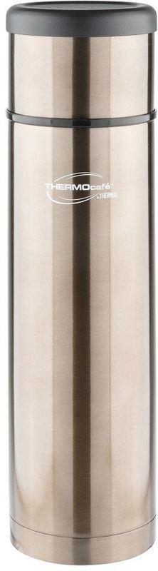 Термос Thermocafe By Thermos, цвет: серый, 1 л. EveryNight-100272157EveryNight-100 идеальный термос, чтобы взять с собой горячий кофе, ледяной чай или другой любимый напиток Крышка термоса служит кружкой для питья . Ее конструкция не дает внешней поверхности нагреваться. Пробка позволяет добраться до содержимого, не извлекая ее полностью, нужно только повернуть пробку не откручивая целиком.Строение пробки не позволит случайно пролиться жидкости и помогает сохранить температуру содержимого долгое время.Объем: 1 л.
