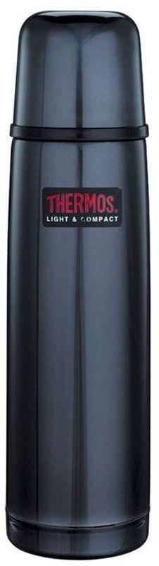 Термос Thermos, цвет: темно-синий, 0,5 л. FBB 500BC115510Термосы из нержавеющей стали FBB предпочитают приверженцы высоких технологий и всего самого совершенного. Небьющиеся стенки термоса из нержавеющей пружинной стали 18/8 способны противостоять внешним повреждениям и вмятинам. Удобная пробка клапанного типа, открывающаяся одним нажатием, легко разбирается для чистки. Чашка-крышка из нержавеющей стали позволит наслаждаться своим напитком, где бы в любом месте. Этот термос очень легкий и компактный, удобен в транспортировке и хранении.Объем: 500 мл.
