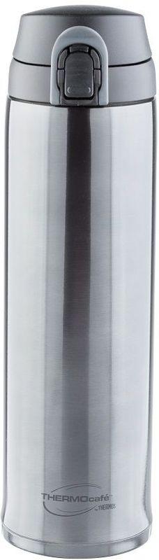 Термос Thermocafe By Thermos, цвет: темно-серый, 0,6 л. XTC-60270498Термос Thermocafe By Thermos очень удобен для использования в автомобиле или при занятиях спортом.Крышка снабжена дополнительным фиксатором - защитой от случайного открытия. Откидывается полностью и фиксируется в открытом положении.Объем: 600 мл.