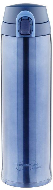 Термос Thermocafe By Thermos, цвет: темно-голубой, 0,6 л. XTC-60270542Термос Thermocafe By Thermos очень удобен для использования в автомобиле или при занятиях спортом.Крышка снабжена дополнительным фиксатором - защитой от случайного открытия. Откидывается полностью и фиксируется в открытом положении.Объем: 600 мл.