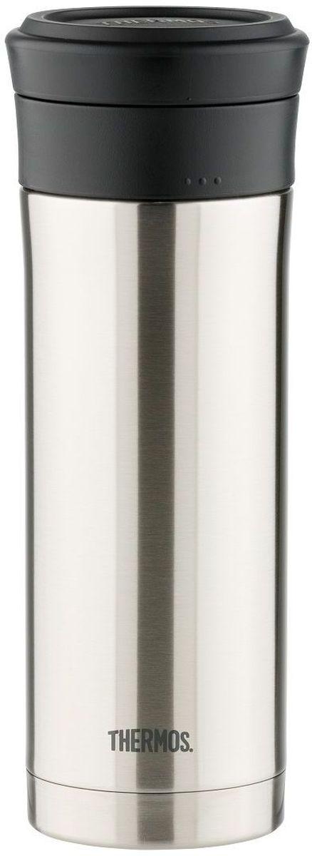 Термос для заваривания Thermos, цвет: стальной, 0,48 л. TCMK-5000003929Термос TCMK-500, выполненный из высококачественной стали с ситечком, является необычной моделью - это термос для заваривания. Он предназначен для индивидуального использования. Термос очень удобен и герметичен. В таком термосе можно заваривать любимые настои и чаи не испытывая трудностей при процеживании.Объем: 500 мл.
