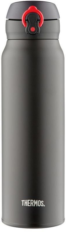 Термос Thermos, цвет: черный, 750 мл. JNL-752934673Термос Thermos это суперлегкий и супертонкий термос, выполненный из стали.У термоса имеется фиксатор от случайного открытия, крышка откидывается полностью и фиксируется.Объем: 750 мл.