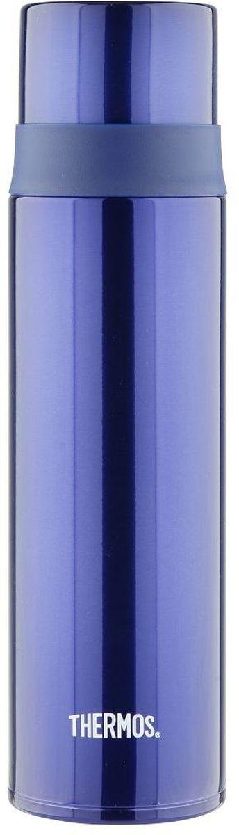 Термос Thermos, цвет: синий, 500 мл. FFM-500WS 7064Термос Thermos это суперлегкий и супертонкий термос, выполненный из стали, он весит всего 270 г.У термоса имеется фиксатор от случайного открытия, крышка откидывается полностью и фиксируется, поэтому он очень удобендля использования в движении, в автомобиле.Чашка-крышка из нержавеющей стали позволит Вам наслаждаться своим напитком, где бы вы ни были.Объем: 500 мл.