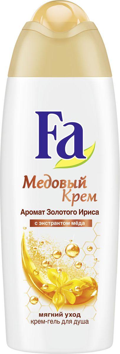 Fa Крем-гель для душа Медовый Крем 250 мл1205274658Насладитесь мягким уходом с Fa Медовый Крем. Нежный крем-гель длядуша с ценным экстрактом меда и чувственным ароматом золотогоириса защищает кожу от пересушивания, даря ощущение соблазнительношелковистой кожи.– pH-нейтральный.– хорошая переносимость кожей дерматологически подтверждена.