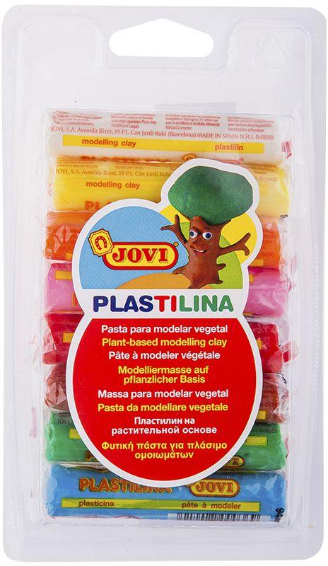 Jovi Пластилин 8 цветов 120 гPP-301Легендарный пластилин Jovi на растительной основе идеален для начала обучения лепке и для уроков в школе и творческих студиях. Благодаря усовершенствованной формуле с воском пластилин Jovi безопасен, обладает повышенной пластичностью, хорошо лепится, прекрасно держит форму, не деформируется, легко извлекается из формочки, не крошится, не высыхает, цвета прекрасно смешиваются между собой, слепленные фигурки не опадают со временем. Используется для техники Рисование пластилином и пластилиновой мультипликации. Не пачкает руки, снимается с любой поверхности без усилий, не оставляя пятен. Гипоаллергенен, без консервантов, не содержит глютен. Набор пластилина на растительной основе из 8 базовых цветов (белый, желтый, оранжевый, розовый, красный, голубой, зеленый, коричневый) по 15 грамм в плотном блистере. Страна производства Испания.