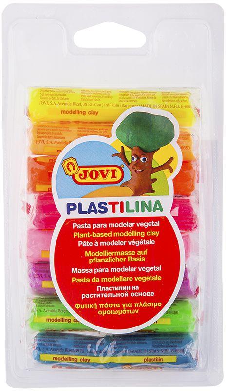 Jovi Пластилин флюоресцентный 8 цветов 120 г -  Пластилин