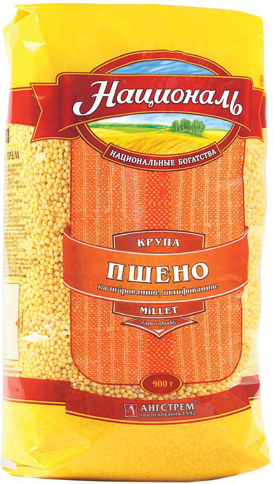 Националь пшено шлифованное, 900 г641Крупа пшено Националь - это шлифованное, калиброванное пшено высшего качества.В пшене содержится много белка, аминокислот, витаминов группы В, фосфора, цинка, калия, магния, макро и микроэлементов – настоящий источник полезных веществ! Пшенная каша - традиционное славянское блюдо. Но помимо вкуснейшей каши, из пшена достаточно просто приготовить сытные оладьи, запеканки, кулеши и даже пироги!