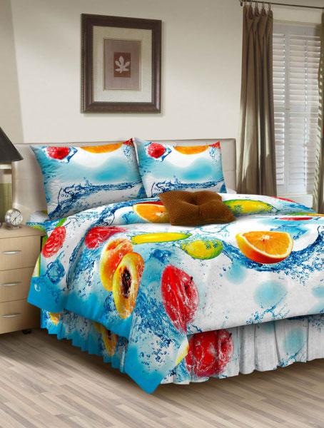 Комплект белья ROKO, семейный, наволочки 70х70, цвет: голубой, белыйVT-1520(SR)Комплект белья ROKO состоит из простыни, двух пододеяльников и двух наволочек. Для производства постельного белья используются экологичные ткани высочайшего качества. Бязь - хлопчатобумажная плотная ткань полотняного переплетения. Отличается прочностью и стойкостью к многочисленным стиркам. Бязь считается одной из наиболее подходящих тканей для производства постельного белья и пользуется в России большим спросом.