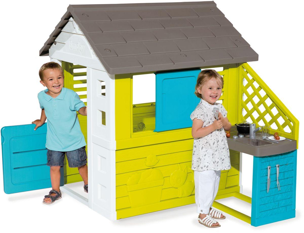 Smoby Игровой домик с кухней цвет синий