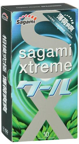 Sagami Xtreme Mint 10шт. Презервативы со вкусом мяты, латекс 0,04 мм - Товары для гигиены