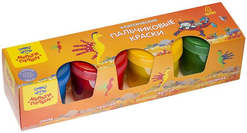 Мульти-Пульти Краски пальчиковые Морские приключения Енота 4 цвета190555Пальчиковые краски Мульти-Пульти Морские приключения Енота идеально подходят для творческого развития детей. Рисование пальчиками развивает и тренирует мелкую моторику рук, положительно влияет на эмоциональное состояние ребенка, способствует формированию правильного восприятия цвета.В комплекте четыре баночки с ярким материалом для рисования: синего, красного, желтого и зеленого цветов.Для художества пальчиковыми красками можно использовать не только ладошки, но и обычные кисти. Состав имеет водную основу, поэтому безопасен для чувствительной детской кожи. Краски легко смываются с рук и рабочей поверхности. Густая разноцветная масса равномерно распределяется по бумаге и не деформирует ее.