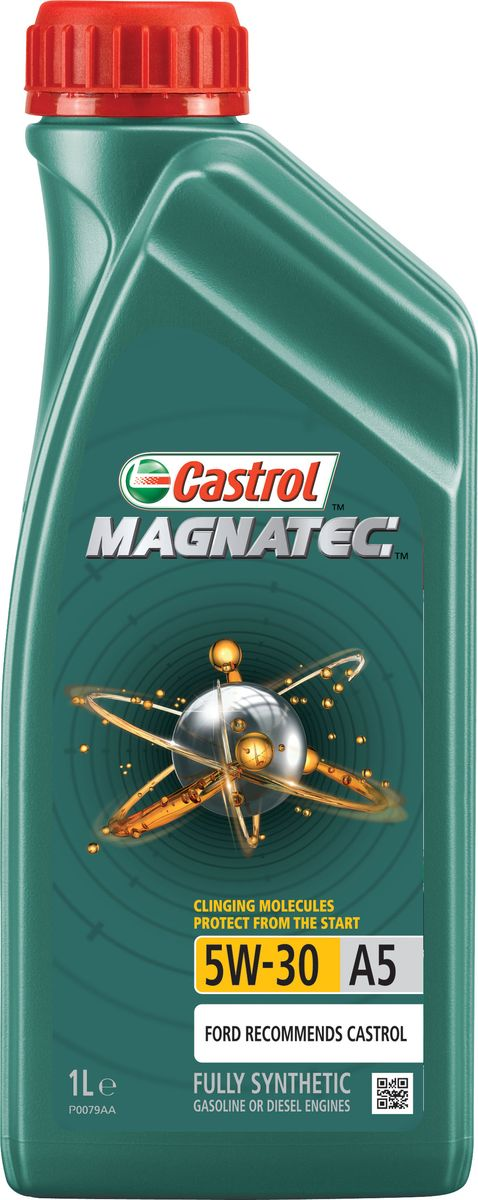 Масло моторное Castrol Magnatec, синтетическое, класс вязкости 5W-30, A5, 1 л3044До 75% износа двигателя происходит во время его пуска и прогрева. Когда двигатель выключен, обычное масло стекает в поддон картера, оставляя важнейшие детали двигателя незащищенными. Молекулы Castrol Magnatec подобно магниту притягиваются к деталям двигателя и образуют сверхпрочную масляную пленку, обеспечивающую дополнительную защиту двигателя в период пуска, когда риск возникновения износа существенно возрастает.Моторное масло Castrol Magnatec предназначено для бензиновых и дизельных двигателей автомобилей, в которых производитель рекомендует использовать смазочные материалы класса вязкости SAE 5W-30, спецификаций ACEA A5/B5, A1/B1, API SN/CF ILSAC GF-4 или более ранних. Castrol Magnatec подходит для применения в двигателях автомобилей Ford, требующих моторные масла спецификаций Ford WSS-M2C913-D, Ford WSS-M2C913-C, Ford WSS-M2C913-B или Ford WSS-M2C913-A.Молекулы Castrol Magnatec:- удерживаются на важнейших деталях двигателя, когда обычное масло стекает в поддон картера;- притягиваются к деталям двигателя, образуя устойчивый защитный слой, сохраняющийся с первой секунды работы двигателя вплоть до следующего пуска;- сцепляются с металлическими поверхностями деталей двигателя, делая их более устойчивыми к изнашиванию;- в сочетании с синтетической технологией обеспечивают повышенную защиту при высоко- и низкотемпературных режимах работы двигателя;- обеспечивают постоянную защиту в любых условиях эксплуатации, при различных стилях вождения и в широком диапазоне температур.Castrol Magnatec проявляет отличные эксплуатационные характеристики в экстремальных условиях холодного пуска.Спецификации:ACEA A1/B1, A5/B5,API SN/CF,ILSAC GF-4,Meets Ford WSS-M2C913-A / Ford WSS-M2C913-B / Ford WSS-M2C913-C / Ford WSS-M2C913-D.Товар сертифицирован.