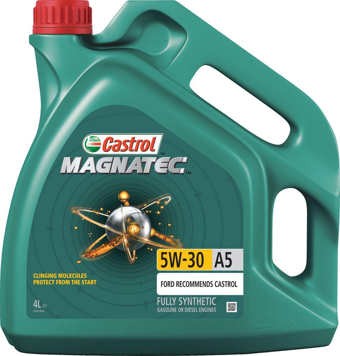 Масло моторное Castrol Magnatec, синтетическое, класс вязкости 5W-30, A5, 4 л15583DДо 75% износа двигателя происходит во время его пуска и прогрева. Когда двигатель выключен, обычное масло стекает в поддон картера, оставляя важнейшие детали двигателя незащищенными. Молекулы Castrol Magnatec подобно магниту притягиваются к деталям двигателя и образуют сверхпрочную масляную пленку, обеспечивающую дополнительную защиту двигателя в период пуска, когда риск возникновения износа существенно возрастает.Моторное масло Castrol Magnatec предназначено для бензиновых и дизельных двигателей автомобилей, в которых производитель рекомендует использовать смазочные материалы класса вязкости SAE 5W-30, спецификаций ACEA A5/B5, A1/B1, API SN/CF ILSAC GF-4 или более ранних. Castrol Magnatec подходит для применения в двигателях автомобилей Ford, требующих моторные масла спецификаций Ford WSS-M2C913-D, Ford WSS-M2C913-C, Ford WSS-M2C913-B или Ford WSS-M2C913-A.Молекулы Castrol Magnatec:- удерживаются на важнейших деталях двигателя, когда обычное масло стекает в поддон картера;- притягиваются к деталям двигателя, образуя устойчивый защитный слой, сохраняющийся с первой секунды работы двигателя вплоть до следующего пуска;- сцепляются с металлическими поверхностями деталей двигателя, делая их более устойчивыми к изнашиванию;- в сочетании с синтетической технологией обеспечивают повышенную защиту при высоко- и низкотемпературных режимах работы двигателя;- обеспечивают постоянную защиту в любых условиях эксплуатации, при различных стилях вождения и в широком диапазоне температур.Castrol Magnatec проявляет отличные эксплуатационные характеристики в экстремальных условиях холодного пуска.Спецификации:ACEA A1/B1, A5/B5,API SN/CF,ILSAC GF-4,Meets Ford WSS-M2C913-A / Ford WSS-M2C913-B / Ford WSS-M2C913-C / Ford WSS-M2C913-D.Товар сертифицирован.