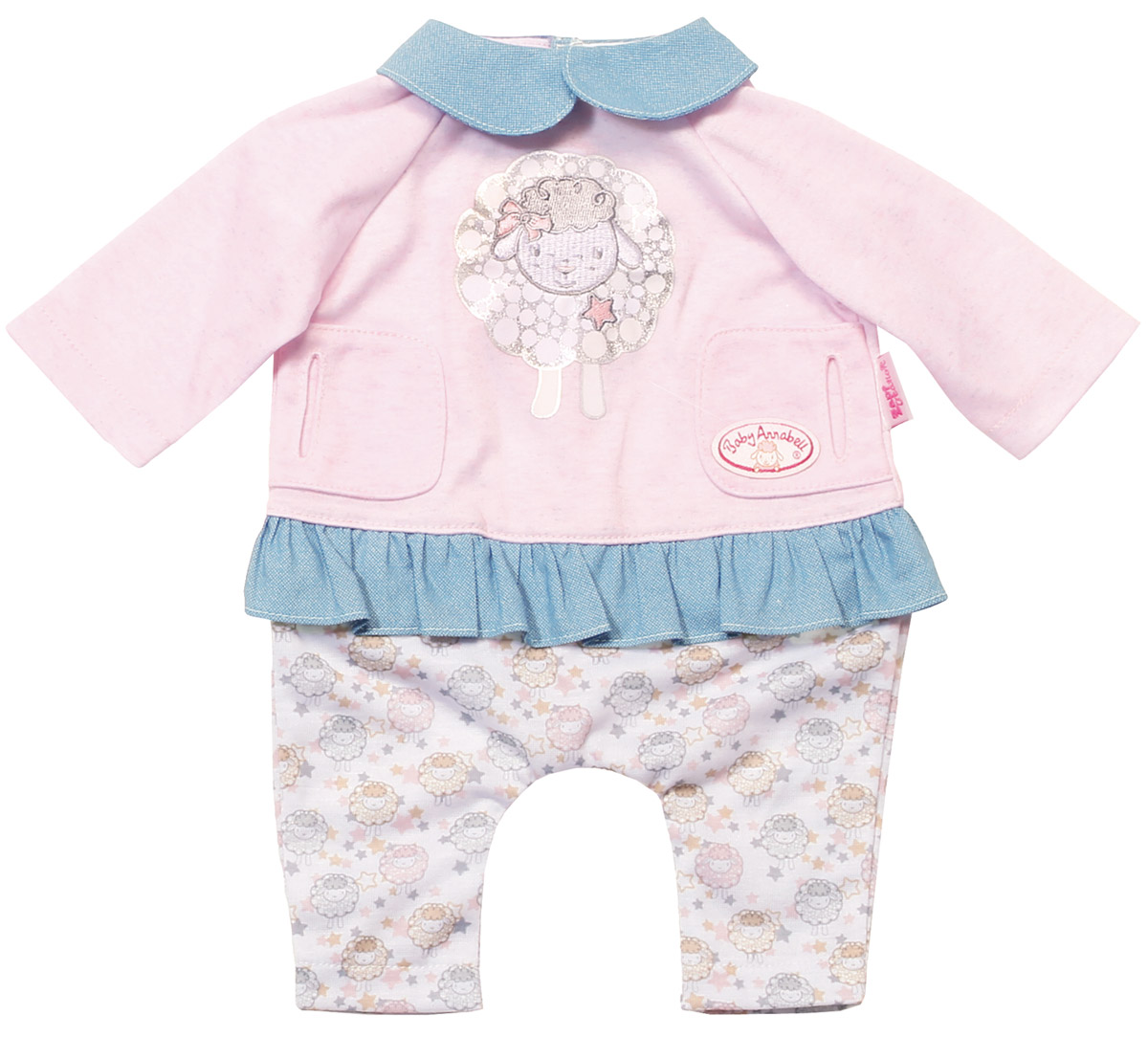 Baby Annabell Одежда для куклы Спокойной ночи baby annabell подгузники для куклы baby annabell