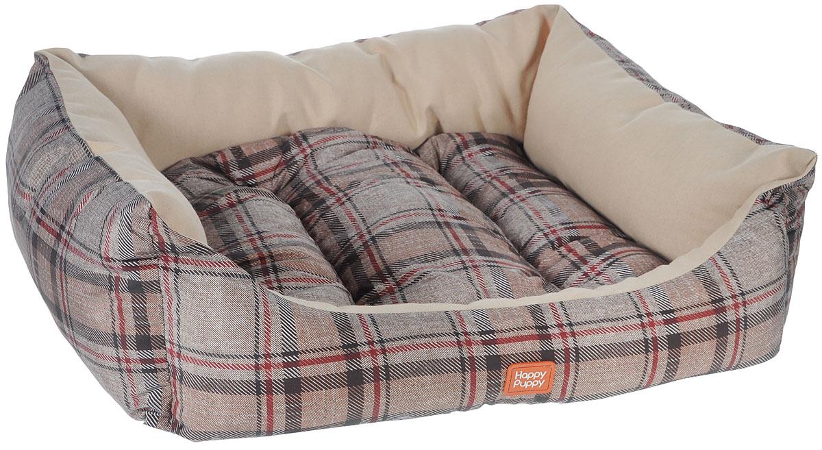 Лежак для собак Happy Puppy Классик-2, 48 х 39 х 15 см0120710Мягкий лежак Happy Puppy Классик-2 обязательно понравится вашему питомцу. Он выполнен из высококачественного хлопка и полиэстера с водоотталкивающей пропиткой, а наполнитель - из мягкого холлофайбера. Такой материал не теряет своей формы долгое время.Лежак оснащен мягкой съемной подстилкой. Высокие бортики обеспечат вашему любимцу уют. За изделием легко ухаживать, его можно стирать вручную. Мягкий лежак станет излюбленным местом вашего питомца, подарит ему спокойный икомфортный сон, а также убережет вашу мебель от шерсти. Размер: 48 x 39 x 15 см.