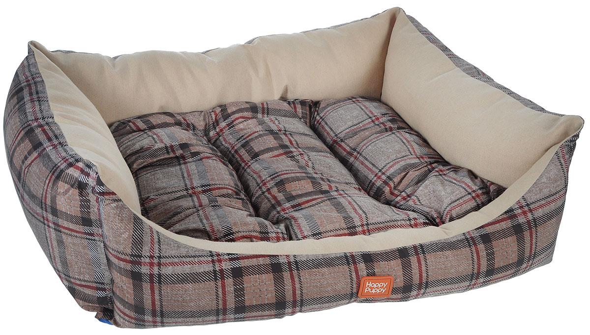 Лежак для собак Happy Puppy Классик-3, 57 x 44 x 15 смЛ7/6Мягкий лежак Happy Puppy Классик-3 обязательно понравится вашему питомцу. Он выполнен из высококачественного хлопка и полиэстера с водоотталкивающей пропиткой, а наполнитель - из мягкого холлофайбера. Такой материал не теряет своей формы долгое время.Лежак оснащен мягкой съемной подстилкой. Высокие бортики обеспечат вашему любимцу уют. За изделием легко ухаживать, его можно стирать вручную. Мягкий лежак станет излюбленным местом вашего питомца, подарит ему спокойный икомфортный сон, а также убережет вашу мебель от шерсти. Размер: 57 x 44 x 15 см.