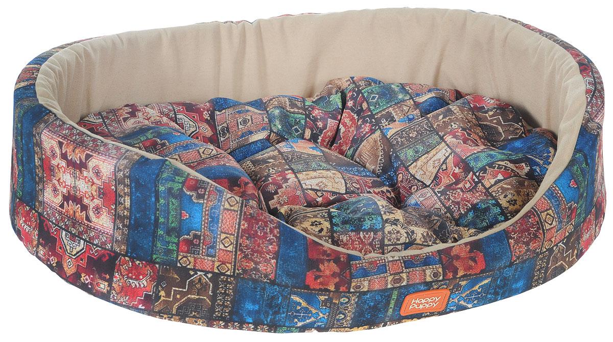 Лежак для собак Happy Puppy Восточные сказки-3, 57 x 44 x 15 смЛ15/2 Лежак закрытый Домик _ арабеска голубая, материал бязь, поролонМягкий лежак Happy Puppy Восточные сказки-3 обязательнопонравится вашему питомцу. Он предназначен для собак мелких пород и изготовлен из полиэстера и хлопка, внутри - мягкий наполнитель из мебельного поролона.Стежка надежно удерживает наполнитель внутри и не позволяет ему скатываться. Лежак очень удобный и уютный, он оснащен мягкой съемной подстилкой с наполнителем из холлофайбера.Высокие бортики обеспечат вашему любимцу уют. Заизделием легко ухаживать, его можно стирать вручную.Мягкий лежак станет излюбленным местом вашего питомца, подарит ему спокойный и комфортный сон, а также убережет вашу мебель от шерсти.