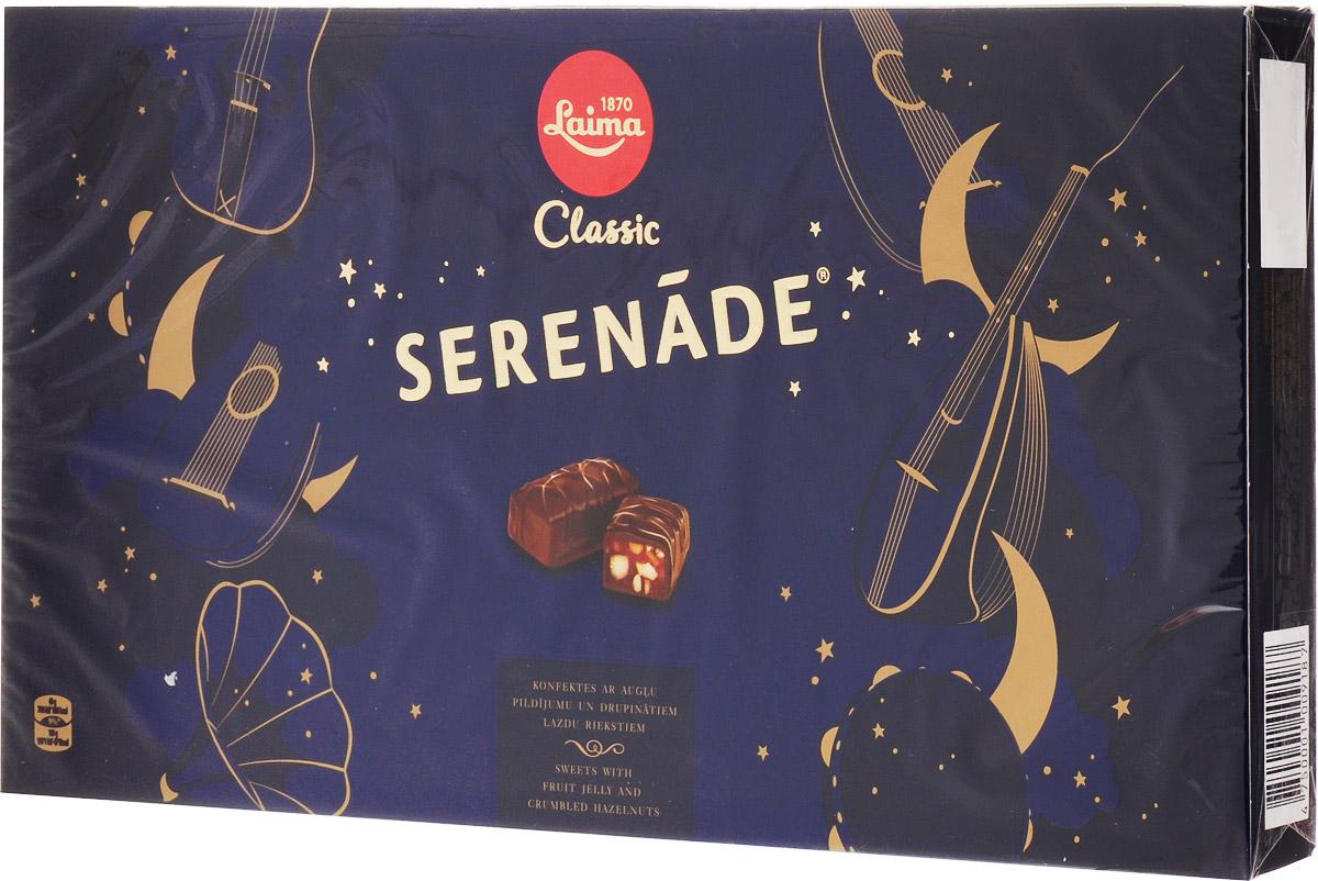 Laima Серенада Набор шоколадных конфет, 235 г0120710Визитная карточка ТМ Лайма_мягкий грильяж в шоколаде.Уважаемые клиенты! Обращаем ваше внимание на то, что упаковка может иметь несколько видов дизайна. Поставка осуществляется в зависимости от наличия на складе.