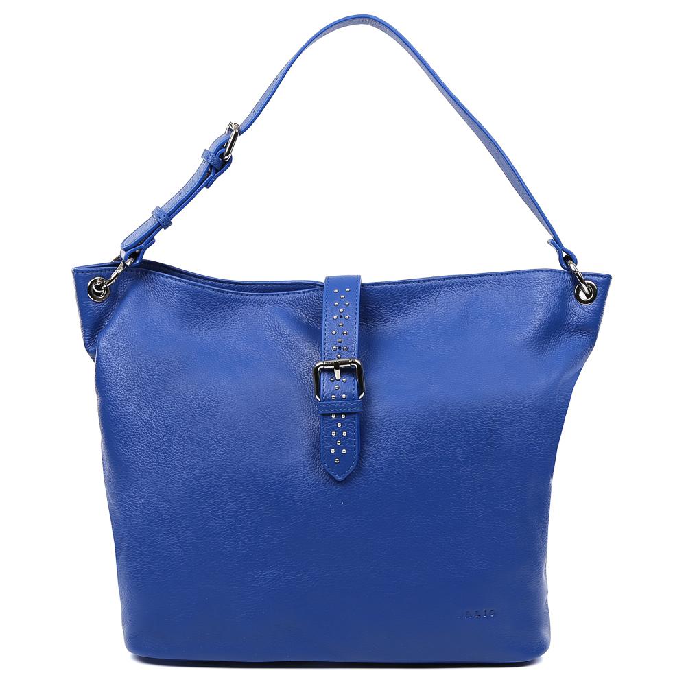 Сумка женская Palio, цвет: синий. 15100A-895L39845800Стильная и вместительная сумка-шоппер Palio выполнена из натуральной кожи, которая имеет необыкновенно мягкую и приятную фактуру. Насыщенный синий цвет- одна из главных тенденций моды этого сезона, поэтому аксессуар придется по вкусу всем любительницам изысканности и практичности. Яркая фурнитура в стальном цвете и гвоздики-хольнитены подчеркнут ваш уникальный стиль, а вместительная лаконичная форма изделия дополнит любой повседневный образ. Внутри сумки находится одно вместительное отделение, которое разделяется отсеком на молнии. Наши дизайнеры уделили большое внимание удобству аксессуара: на внутренних боковых стенках они разместили карманы для различных женских мелочей. На тыльной части сумки расположено отделение, которое закрывается на молнию со стильным кожаным поводком. Аксессуар свободно вмещает папки и документы формата A4.