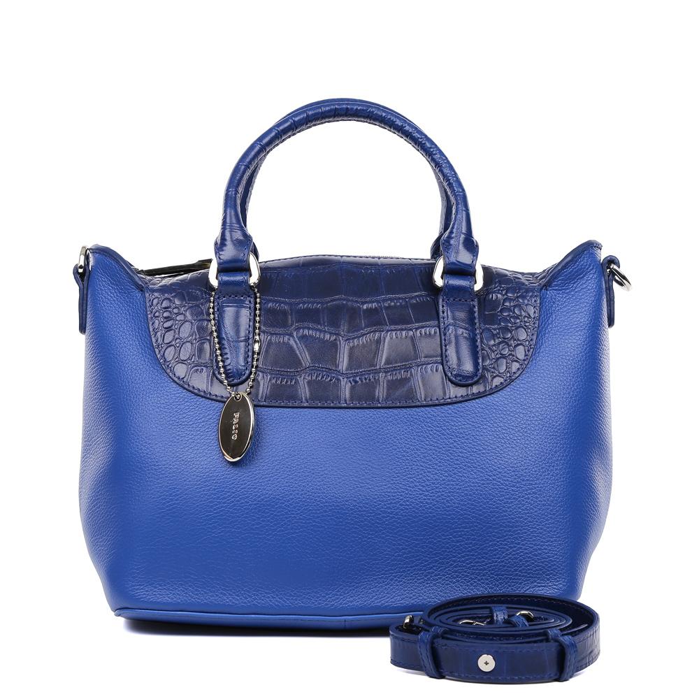 Сумка женская Palio, цвет: синий. 14714A2-W2-895/886BM8434-58AEИзысканная сумка Palio выполнена из натуральной плотной кожи, которая держит форму и имеет мягкую пористую фактуру. Аристократичный и глубокий коричневый оттенок, изысканная серебряная фурнитура и удобное крепление ручек – именно такая модель в этом сезоне должна быть в гардеробе каждой модницы. В отделке аксессуара дизайнеры использовали ультрамодное тиснение под рептилию. С таким изделием вы будете самой элегантной, как на деловой бизнес-встрече, так и на приятном дружеском ужине . Сумка имеет одно отделение, которое разделено отделением на молнии. Внутри аксессуара вы с легкостью расположите свой сотовый телефон и другие женские мелочи с помощью удобных и вместительных отсеков. Изделие очень компактно, не вмещает документы формата A4. В комплекте аксессуар имеет тонкий кожаный ремешок, благодаря которому сумку можно носить на плече.